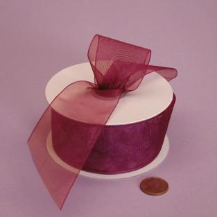 Ribbon - Sheer - 1.5inx25yd - Wine