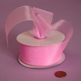 Ribbon - Sheer - 1.5inx25yd - Pink