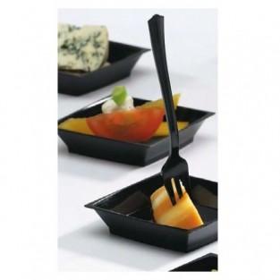 "Petites - 4.2"" - Tasting fork - Black - 100pk"