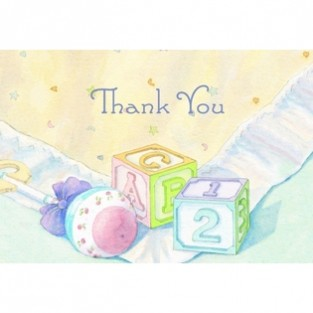 Thank You - Baby Blocks and Quilts - 24 ct