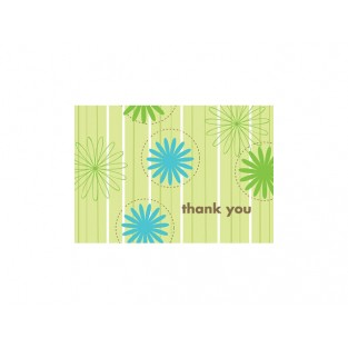 Thank You - Daisy Stripes - 24 ct