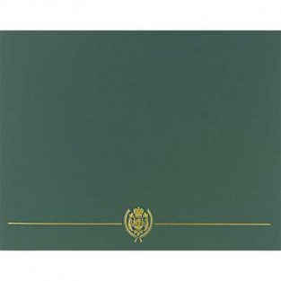 Certificate - Cover - Hunter Green - 5 ct