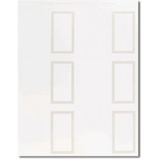 Placecards - Pearl Border - White - 60 ct