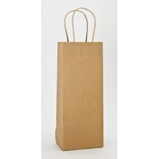 Bag - Wine - Kraft -Brown