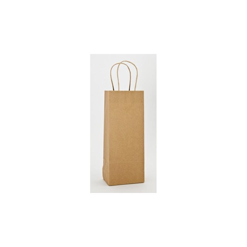 Bag - Wine - Kraft -Brown