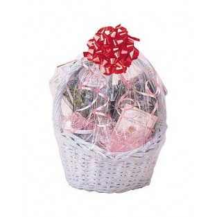 Bag - Cellophane - Basket - Clear - 24x25