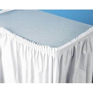"""Tableskirt-White - 14'x29"""" - Plastic"""