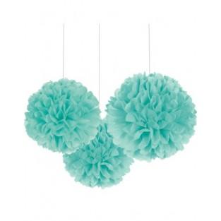 """Fluffy - 3pk - Robins Egg Blue - 16"""""""