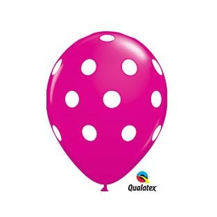 Balloon polka dot berry 6pk