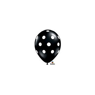 Balloon polka dot black 6pk