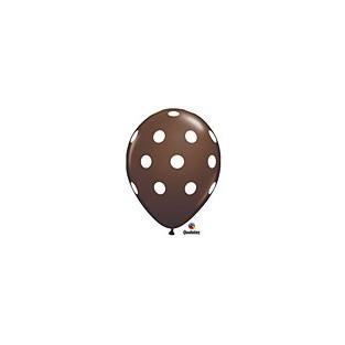 Balloon polka dot brown 6pk