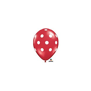 Balloon polka dot red 6pk