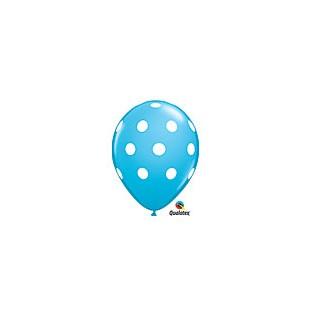 Balloon polkadot robin egg 6pk