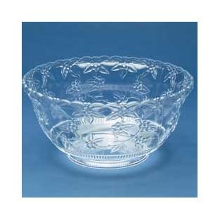 Bowl - Punch - Crystal Cut - Clear - 12 qt