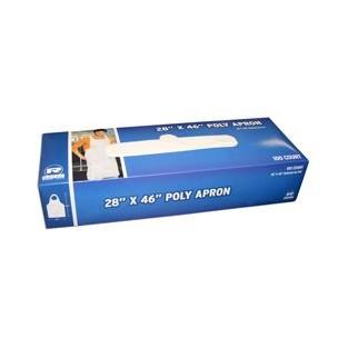 """Apron - Disposable - 100/box - 28""""x46"""" Poly"""