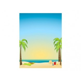Letterhead - By the Beach - 8.5x11 - 100pk