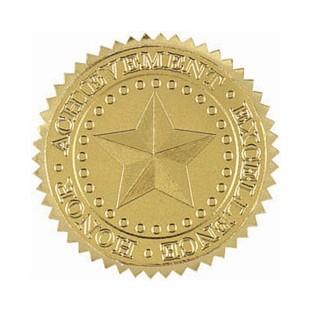 "Gold Foil Seal - Star - 1.75"" - 48pk"