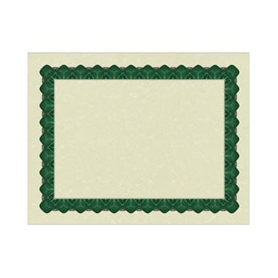 Certificate - Metallic Green - 8.5x11 - 25 ct