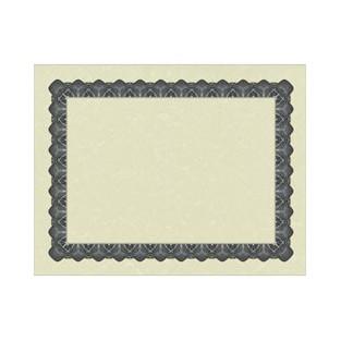 Certificate - Metallic Silver - 8.5x11 - 25 ct