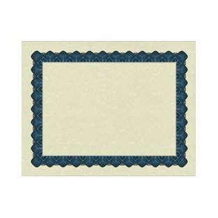 Certificate - Metallic Blue - 8.5x11 - 25 ct