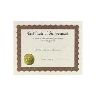 Certificate - Achievement - 8.5x11 - 6 ct