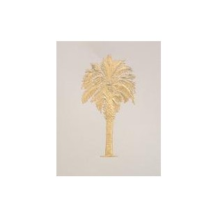 Cards - 10ct with envelope - 4.25x5.5 -Palmetto Tree Ivory with Gold