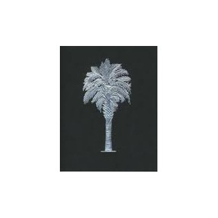 Cards - 10ct with envelope - 4.25x5.5 -Palmetto Tree Black with Silver