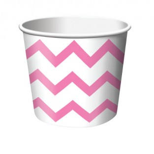 Treat Cup Chevron Candy Pink
