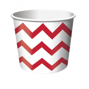 Treat Cup Chevron Red