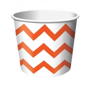 Treat Cup Chevron Orange