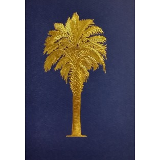 Cards - 10ct with envelope - 4.25x5.5 - Palmetto Tree Blue with Gold