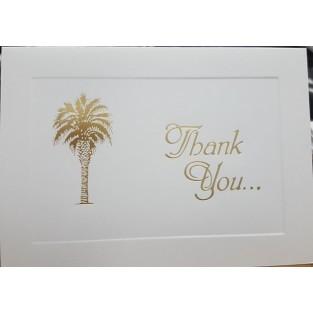 Thank You - Palmetto Tree - 3.5x5 - 10 ct