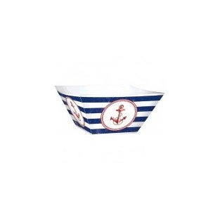 Bowl - Paper - Square - Anchors Aweigh - 3 count - 12 inch X 12  sc 1 st  If Itu0027s Paper & Patterned Tableware - If Its Paper