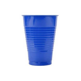 Cup - Plastic - Cobalt - 16 ounce - 20 count