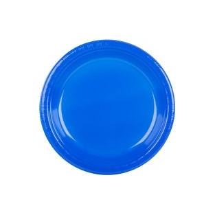 Plate - Plastic - Cobalt - 10 inch - 20 count