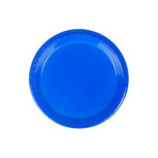 Plate - Plastic - Cobalt - 7 inch - 20 count