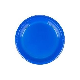 Plate - Plastic - Cobalt - 9 inch - 20 count