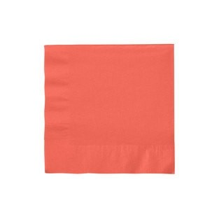 Napkin - Lunch - Coral - 50 count