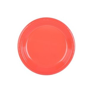 Plate - Plastic - Coral - 10 inch - 20 count