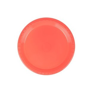 Plate - Plastic - Coral - 7 inch - 20 count