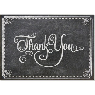 Thank You - Chalkboard - 14 count