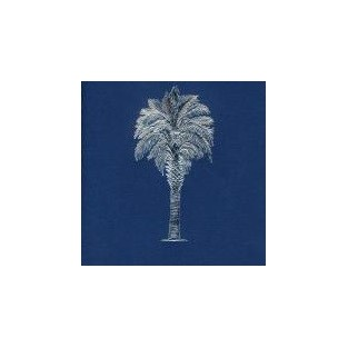 Cards - 10ct with envelope - 4.25x5.5 - Palmetto Tree Blue with Silver