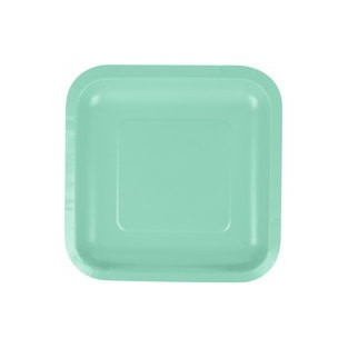 Plate - Paper - Fresh Mint...