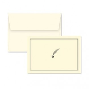 Note Card - Quill & Pen - 14 count