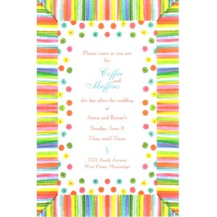 Invitation-Oddballs-Jelly Bean Stripe-20pk w/envelopes 5.75X8.75