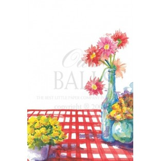Invitation-Oddballs-Red Check-20pk w/envelopes 5.75X8.75