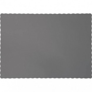"Placemat- Glamour Gray - 9.5"" x 14"" - 50 count- Paper"