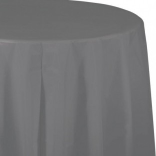 Tablecover-Plastic-Glamour Gray-Round-82 inch